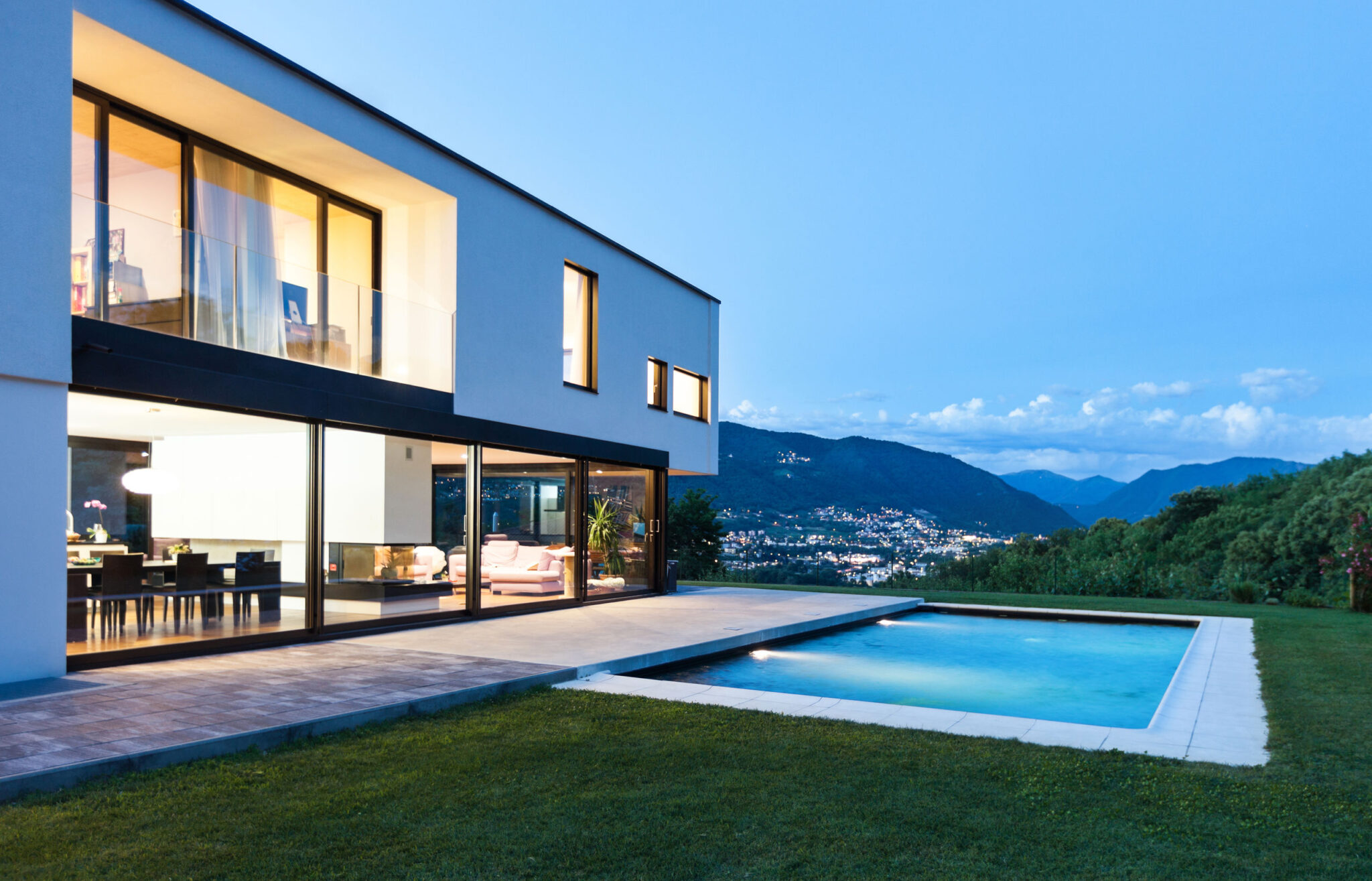 Modern House in Switzerland with view and swimming pool