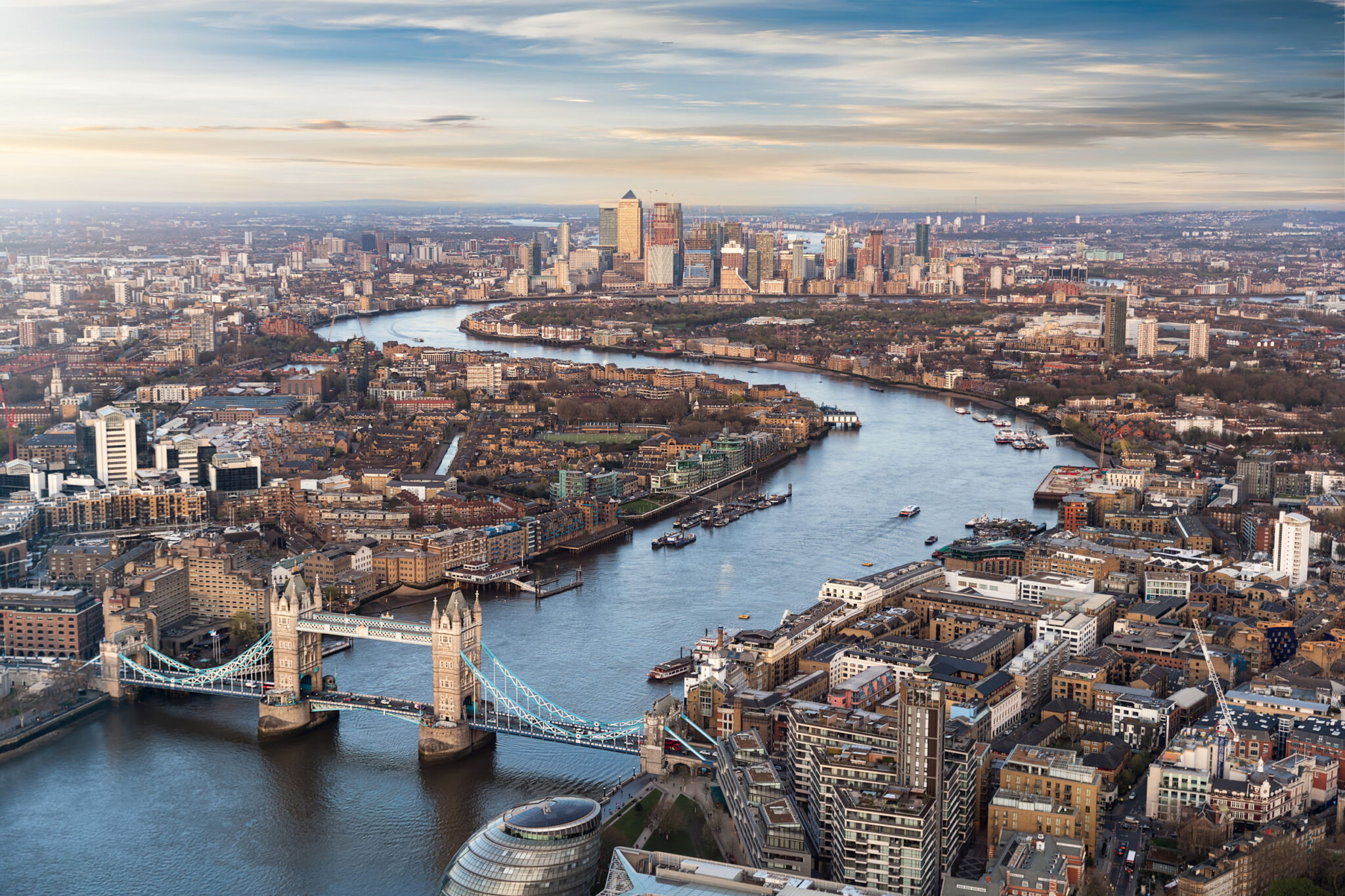Aerial View whole of London